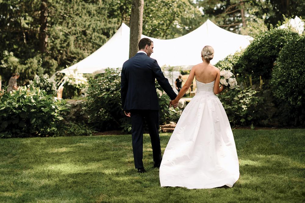 garden wedding reception