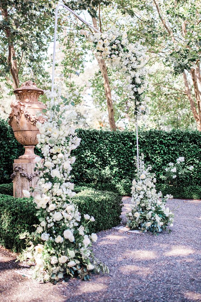 Κήπος λουλούδι αψίδα του γάμου