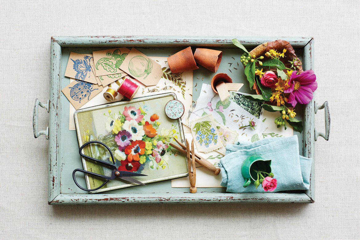 garden wedding vintage tray