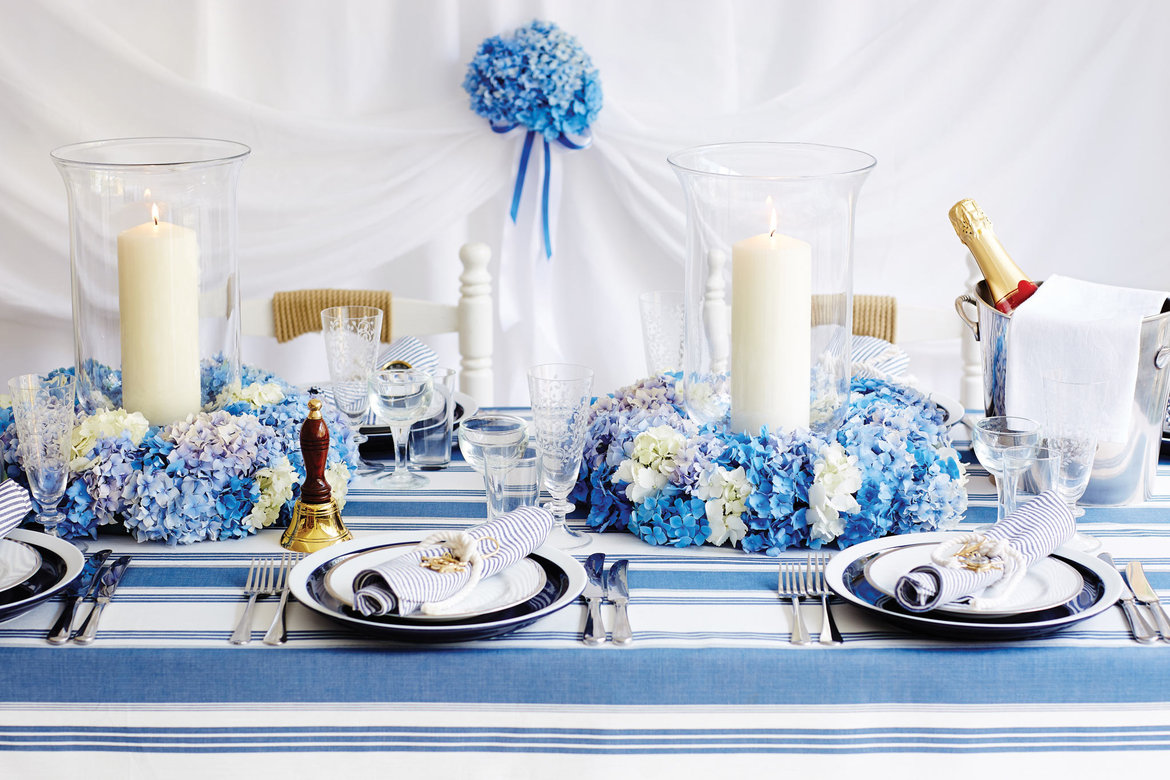 Nautical themed wedding ideas bridalguide nautical wedding tablescape junglespirit Images