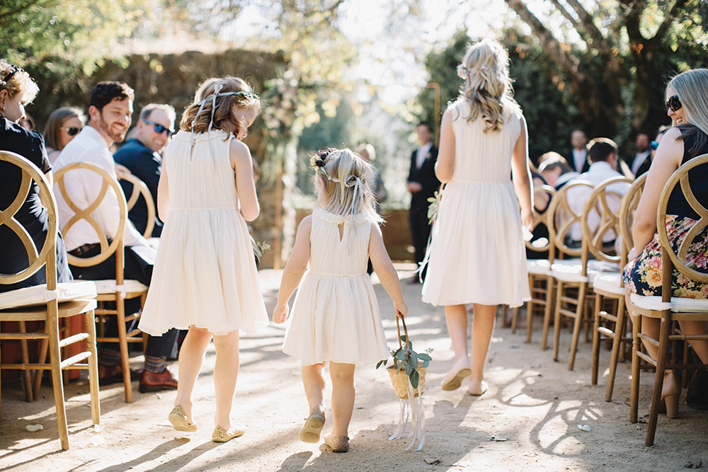Garden wedding flower girls