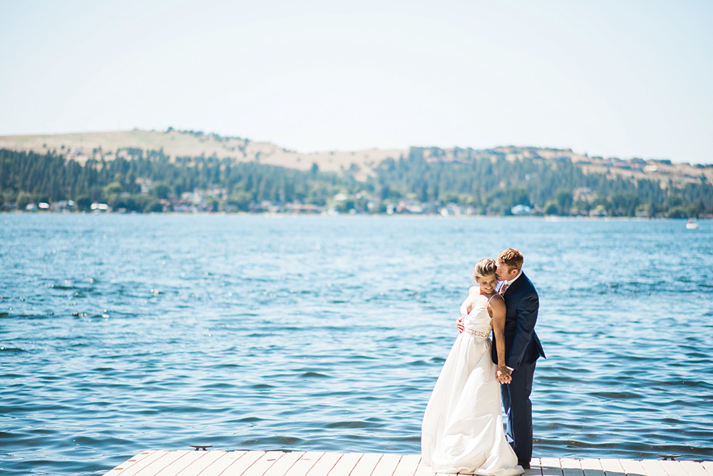 Lakeside wedding reception