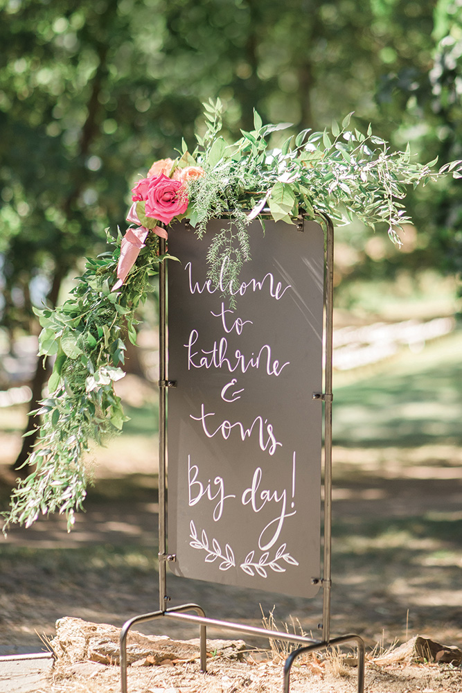 Wedding reception entrance sign