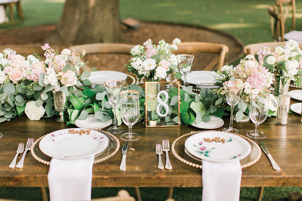 Wedding reception seating decor