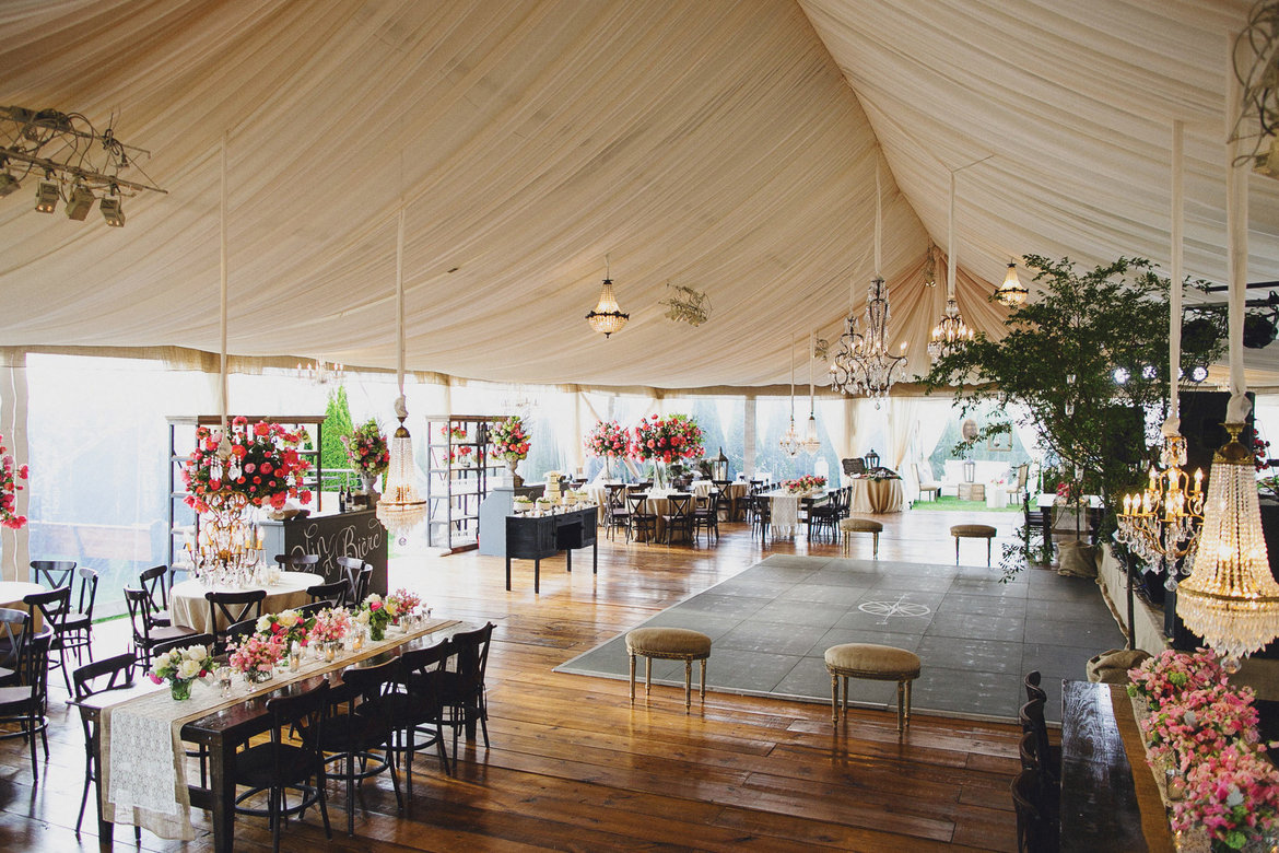 Here a view of the fabulous tent from Party Reflections. Venue The Inn at Crestwood. tented wedding & Plan a Gorgeous Wedding Under a Tent BridalGuide
