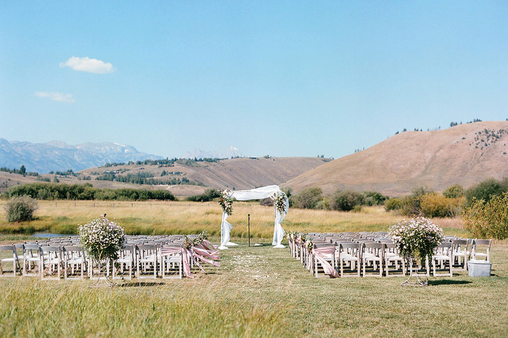 wyoming ranch wedding ceremony