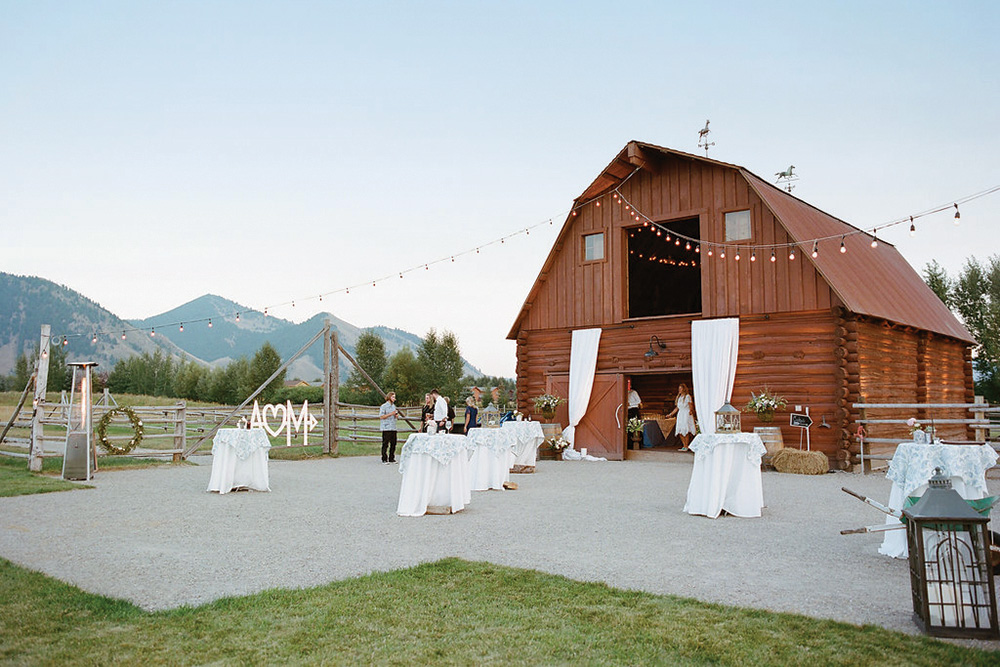 wedding reception barn