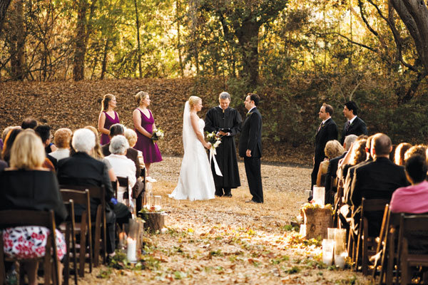 fall wedding outdoor ceremony