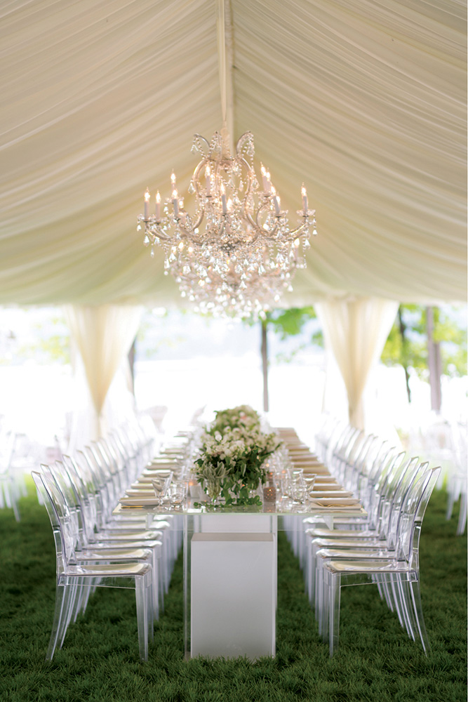 lucite wedding reception chairs