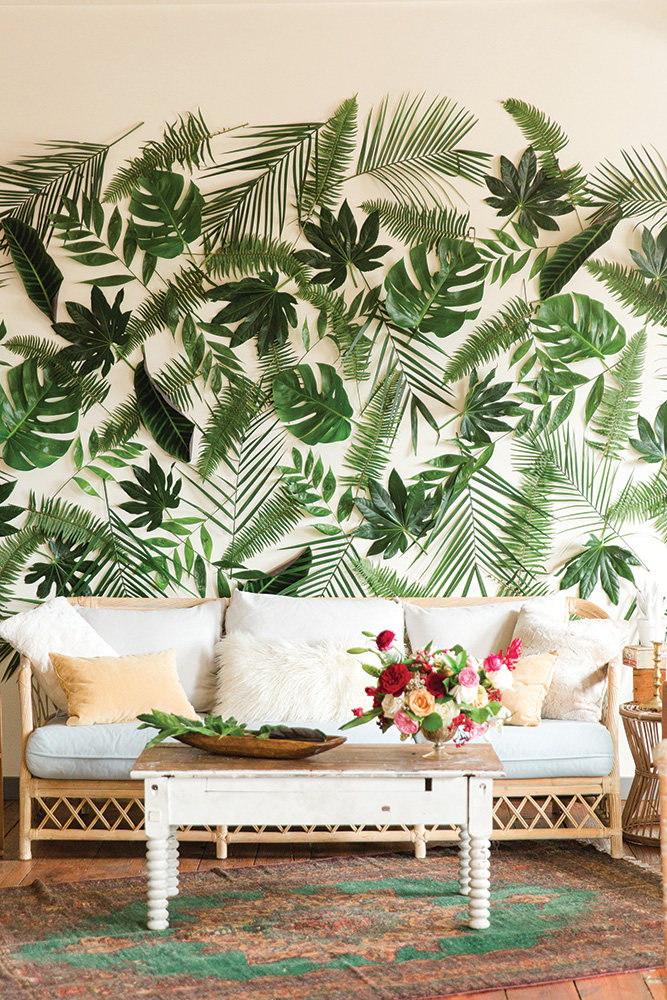 tropical wedding backdrop