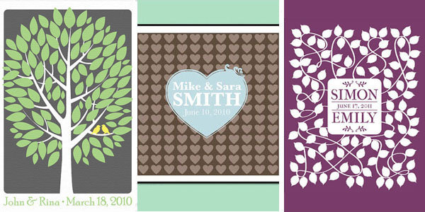 personalized prints wedding guest book