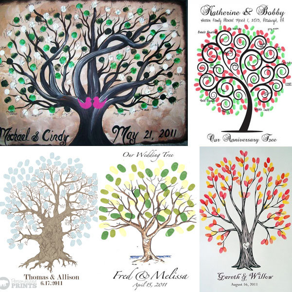 Thumbprint guest book trees are a huge trend right now