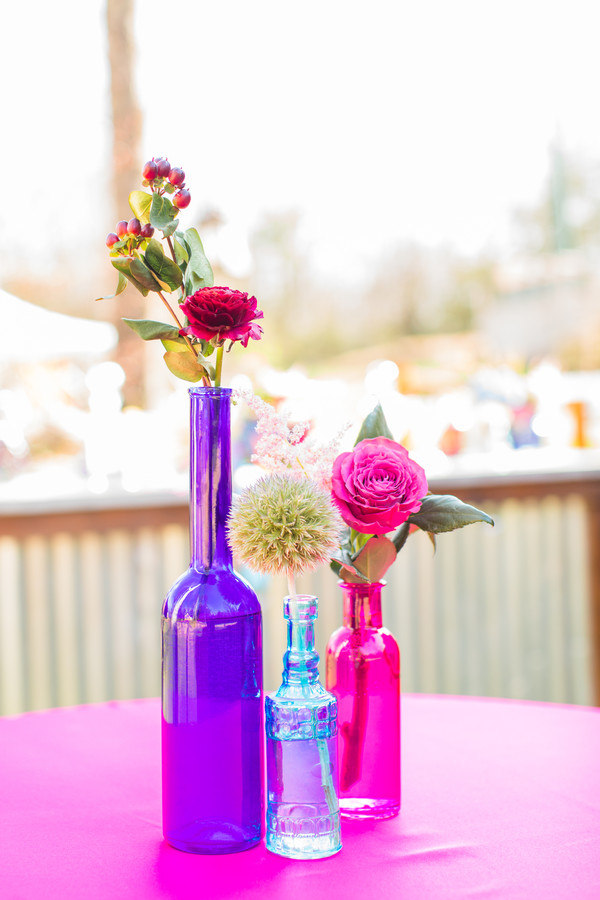 purple pink blue wedding color palette