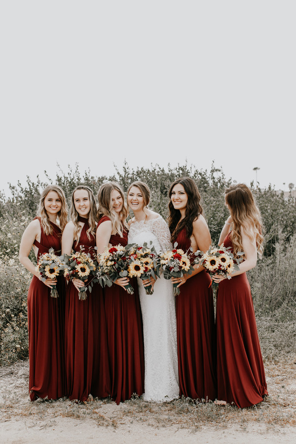 maroon and yellow wedding color palette
