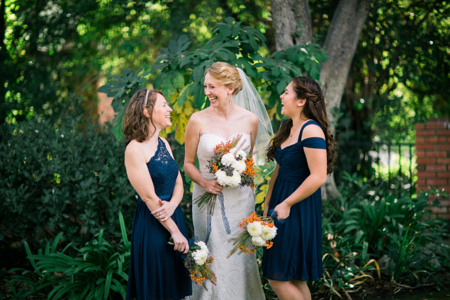 navy and orange wedding color palette