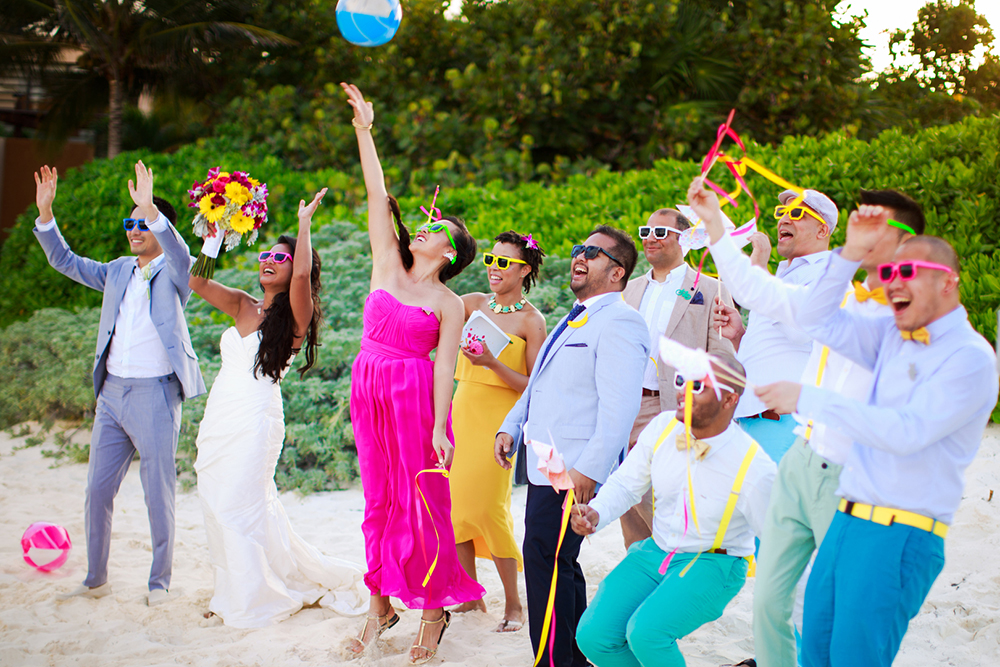 tropical wedding color palette