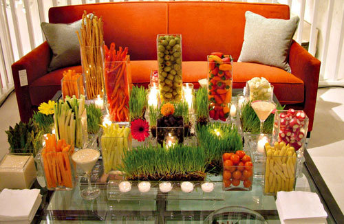an artful display of crudites only looks expensive