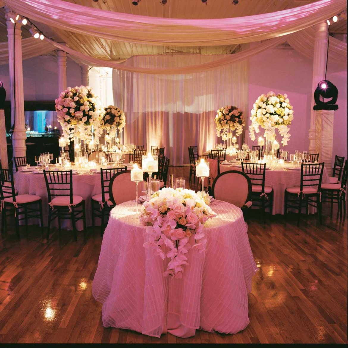 Reception Seating for the Bride and Groom, Sweetheart Table, Fred Marcus Photography