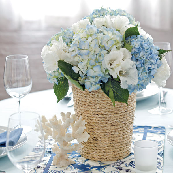 Inexpensive Wedding Centerpiece Ideas: DIY Rope-Wrapped Centerpiece BridalGuide