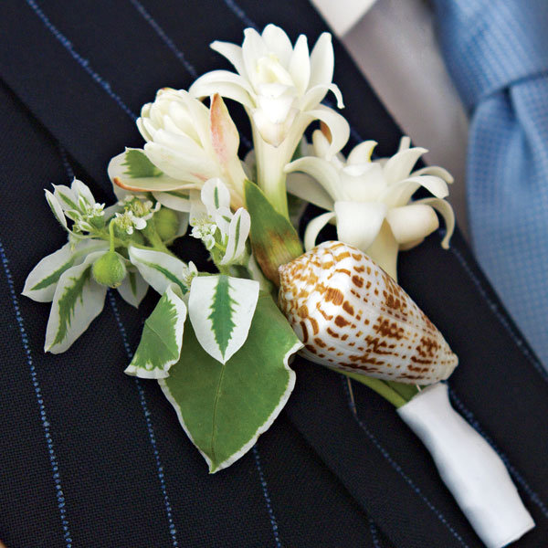 DIY Invitations Seashell Boutonniere Image from Bridal Guide