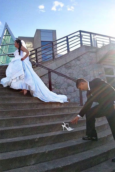 cinderella wedding photo
