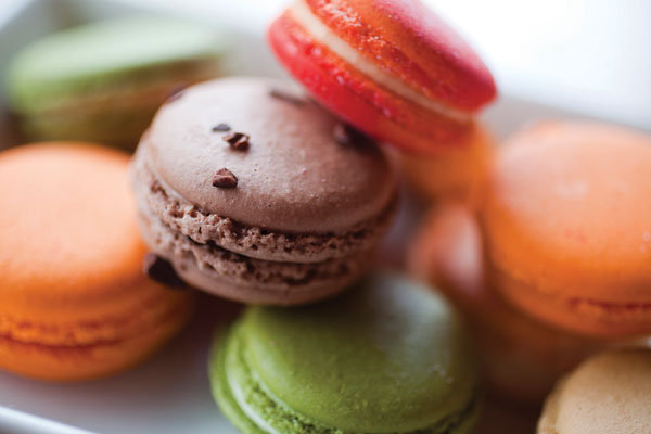 Macaroons, in flavors that include coconut, blood orange and ...