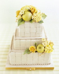 apples and roses wedding cake by collette foley