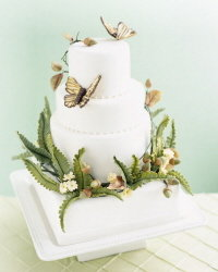 woodlands-inspired wedding cake by collette foley
