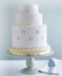eyelet wedding cake by collette foley