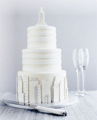 big-city wedding cake by cheryl kleinman cakes
