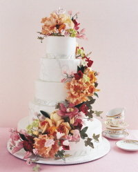 classic floral wedding cake by ron ben-israel