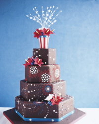festive chocolate wedding cake by cynthia peithman for cakeline