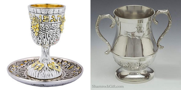 kiddush cup and irish loving cup