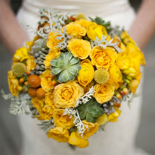 Wedding traditions from around the world bridalguide yellow bridal bouquet mightylinksfo