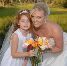 Bride-Flower Girl