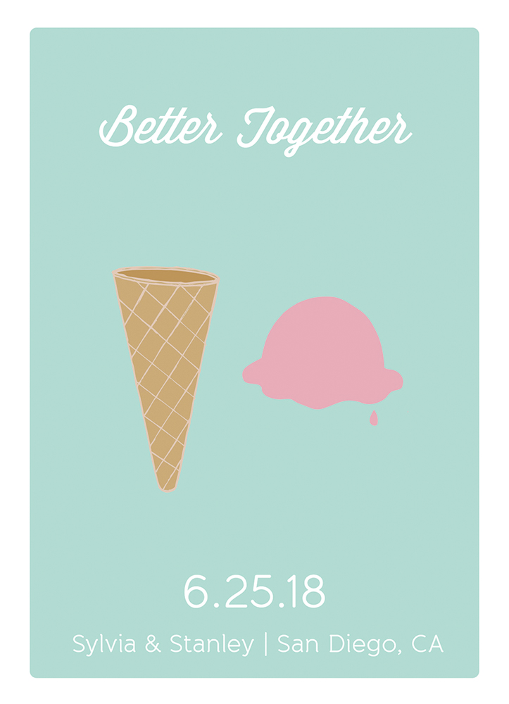 better together save the date card