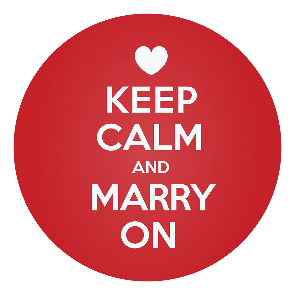 keep calm and marry on save the date card