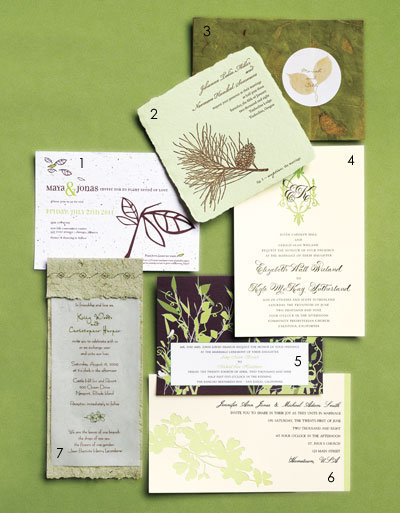 natureinspired wedding invitations