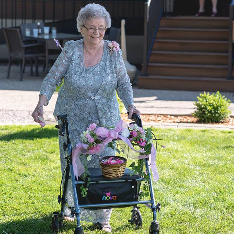 Grandma flower girl
