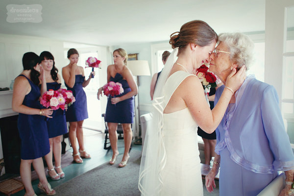 Grandma and bride emotional moment before wedding