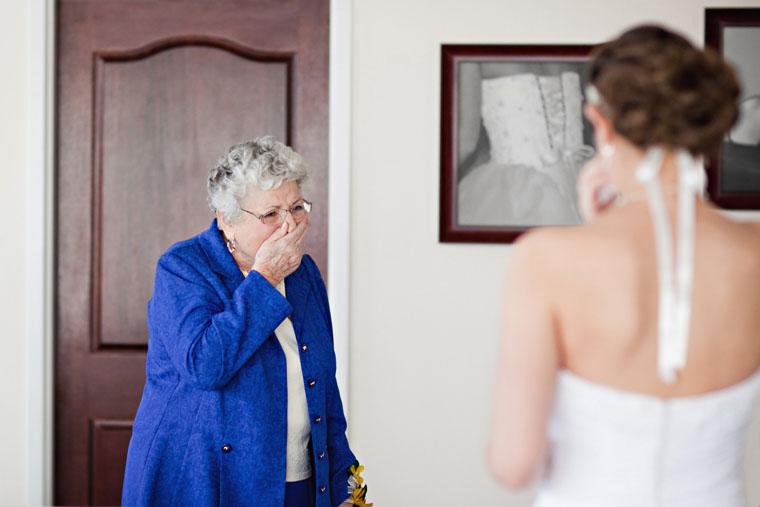 Grandma and bride getting ready for wedding