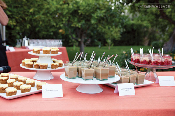 wedding dessert table