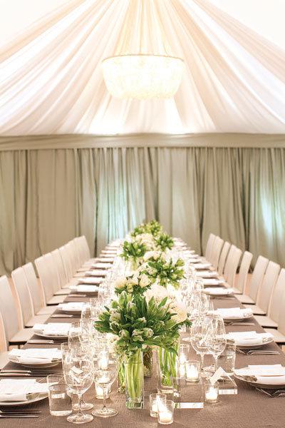 neutral wedding decor
