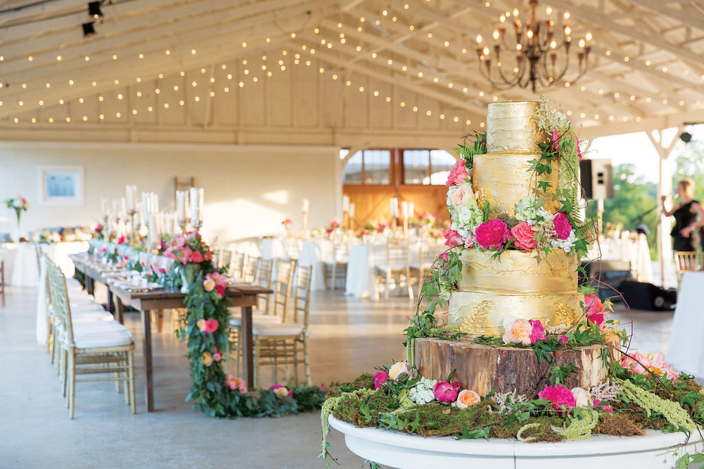 The hottest new wedding trends for 2017 bridalguide gold wedding cake junglespirit Gallery