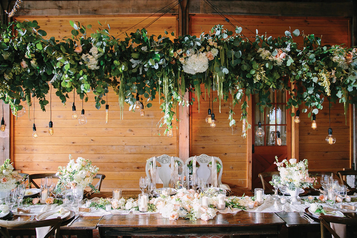 The hottest new wedding trends for 2017 bridalguide suspended centerpiece junglespirit Gallery