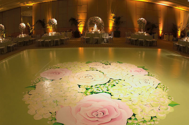 Tip 32 Customizing your dance floor with a lush romantic design sets the