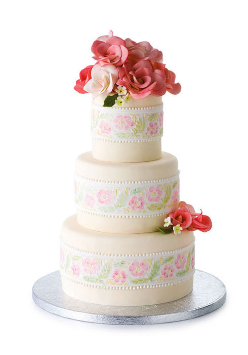 wedding cake by cheryl kleinman cakes