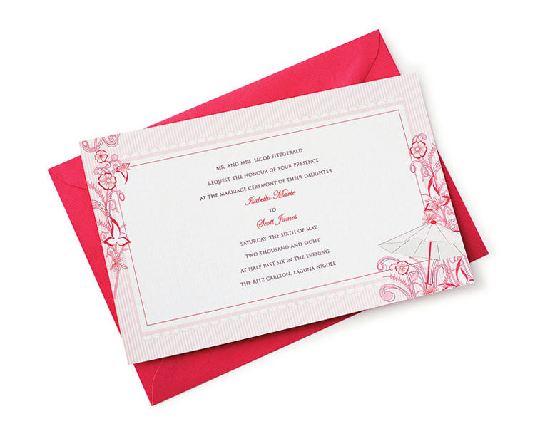 vintage-style wedding invitation by mariella designs