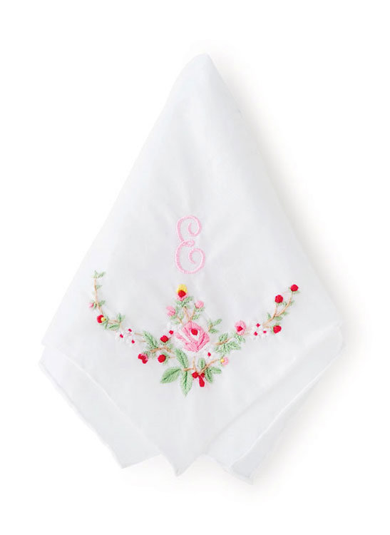 embroidered handkerchief by weddingish