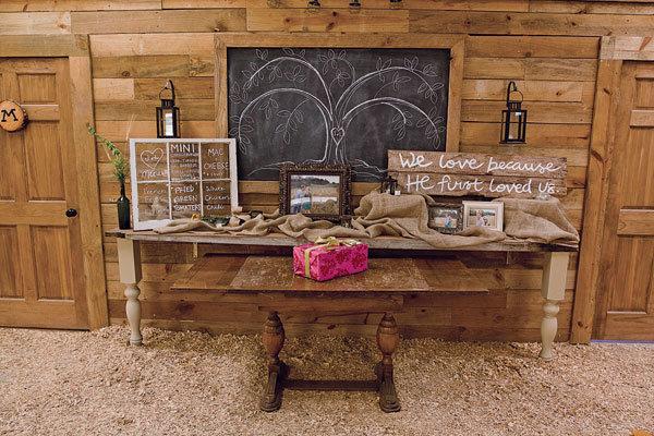 Barn Wedding Gift Table